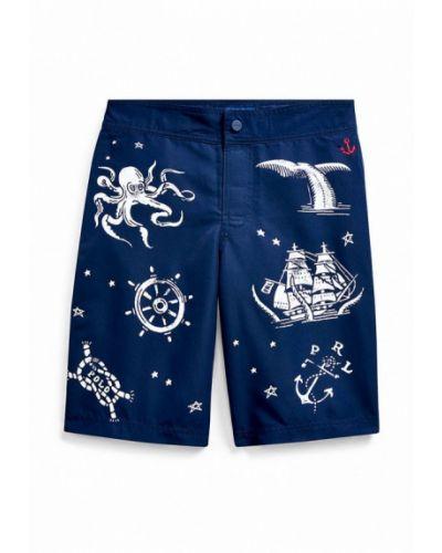 Синие плавки-боксеры Polo Ralph Lauren