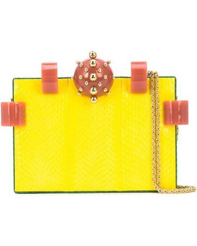 Желтая сумка на цепочке Tonya Hawkes
