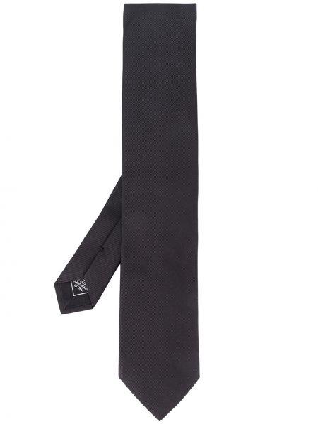 Шелковый галстук с логотипом Brioni