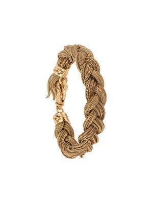 Золотистый желтый плетеный браслет позолоченный Emanuele Bicocchi