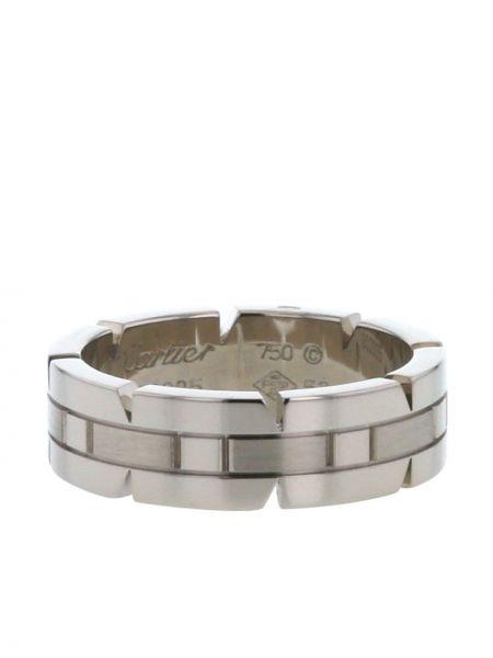 Белое кольцо винтажное Cartier