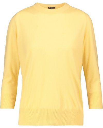 Мягкий желтый кашемировый свитер Loro Piana