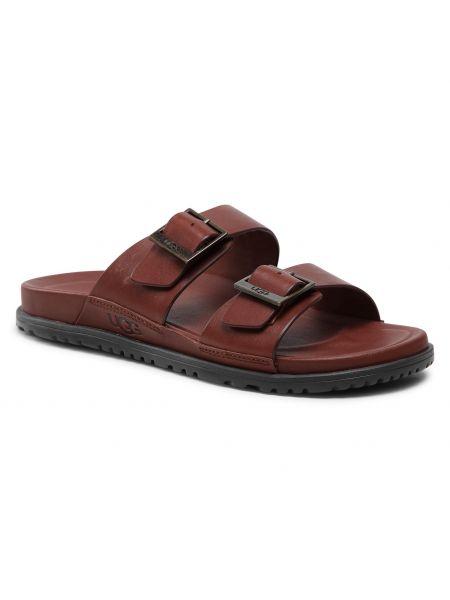 Sandały skórzane - brązowe Ugg