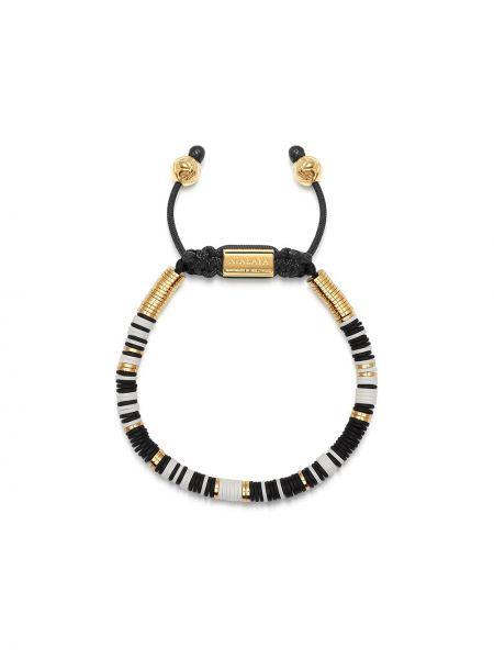 Белый золотой браслет позолоченный с бисером свободного кроя Nialaya Jewelry