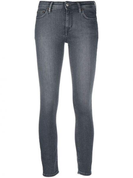Bawełna bawełna obcisłe dżinsy z kieszeniami z łatami Acne Studios