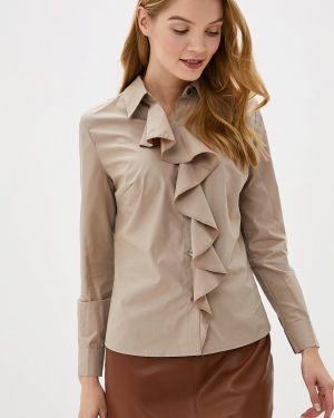 Блузка с длинным рукавом бежевый Gepur