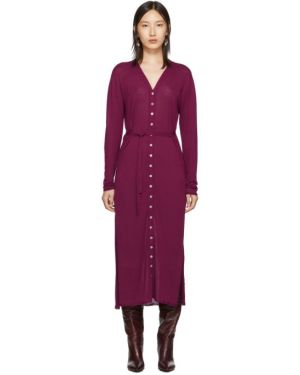 Платье макси розовое на пуговицах Lemaire