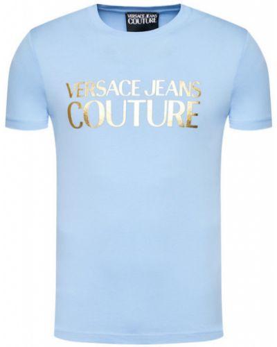 Niebieski koszula jeansowa Versace Jeans Couture