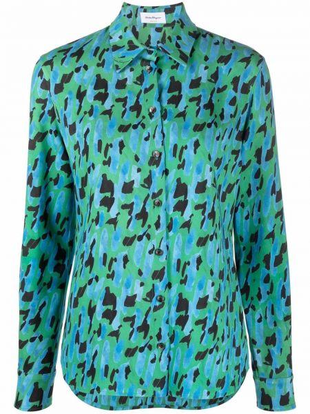 Синяя блузка из вискозы Salvatore Ferragamo