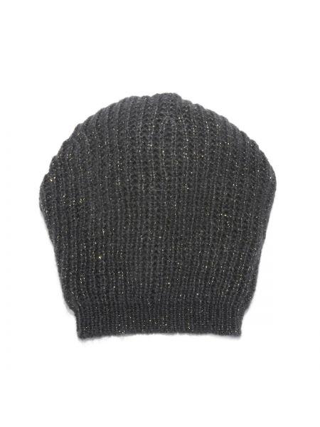 Черная шапка из джерси La Redoute Collections