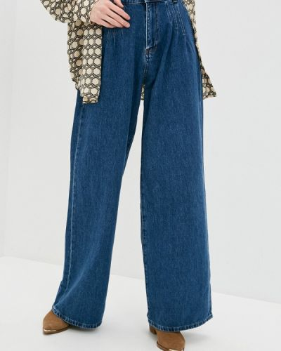 Расклешенные синие широкие джинсы Whitney