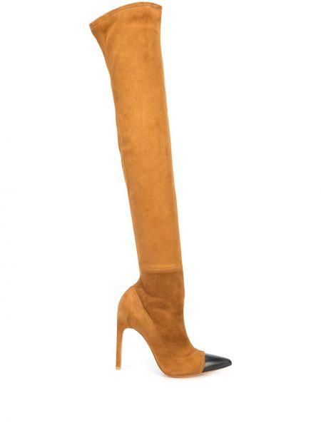 Kozaki zamszowe - brązowe Givenchy