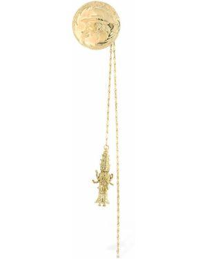 Złota broszka ze srebra Yohji Yamamoto