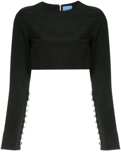 Блузка шелковая черная Macgraw