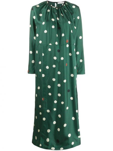 Плиссированное платье со складками с вырезом из вискозы Chinti And Parker