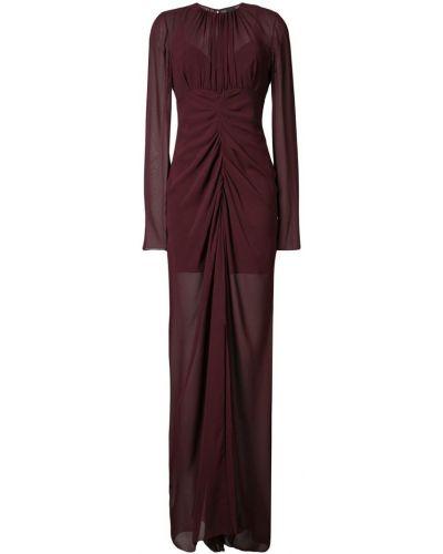 Вечернее платье с драпировкой прозрачное Vera Wang