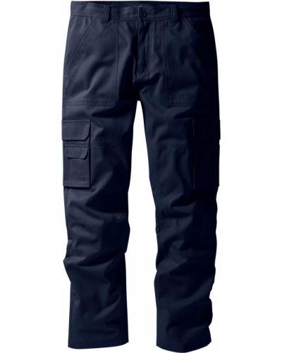 Темно-синие брюки карго с карманами для беременных Bonprix
