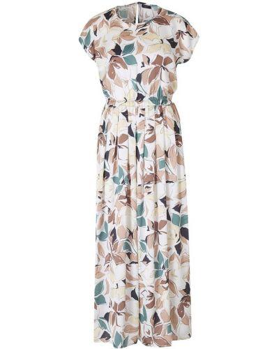 Beżowa sukienka z printem Peserico