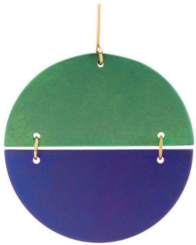 Серебряные серьги фиолетовый титановые Eye M By Ileana Makri