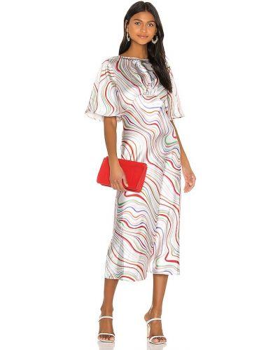 Белое платье с короткими рукавами свободного кроя C/meo