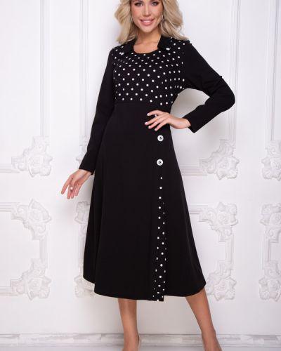 Нарядное с рукавами платье макси с поясом Bellovera