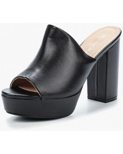 Черное сабо кожаные Sweet Shoes
