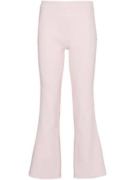 Укороченные брюки розовый расклешенные Giambattista Valli