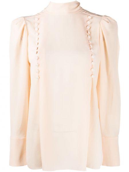 Bluzka z długim rękawem jedwabna brzoskwinia Givenchy