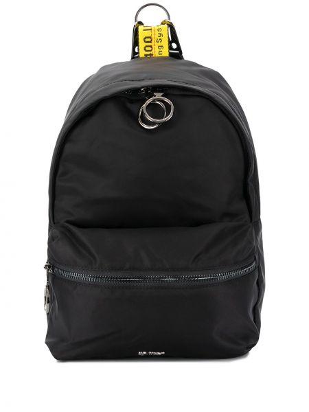 Czarny plecak z printem bawełniany Off-white