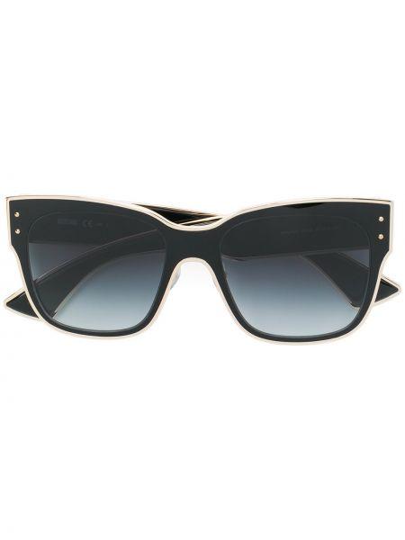 Муслиновые черные солнцезащитные очки квадратные Moschino Eyewear