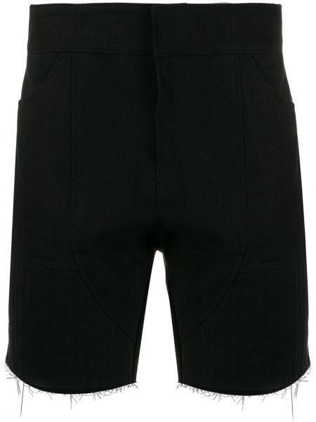 Черные джинсовые шорты из овчины Not Guilty Homme