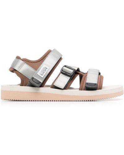 Sandały srebrne - brązowe Suicoke