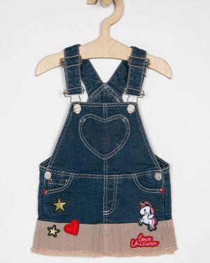Прямая синяя джинсовая юбка на пуговицах Blukids