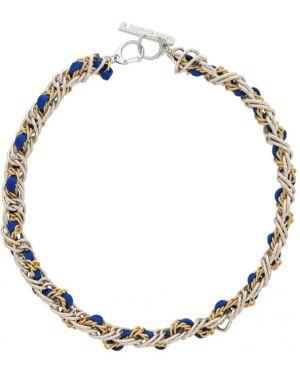 Ожерелье серебряный золотой Landlord