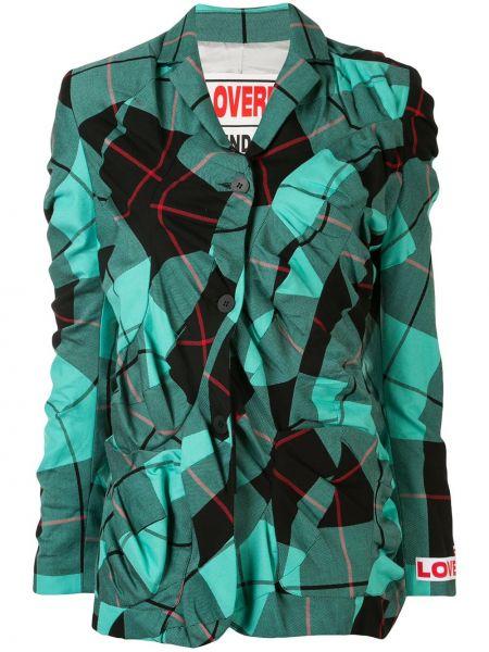 Зеленый пиджак с карманами на пуговицах Charles Jeffrey Loverboy