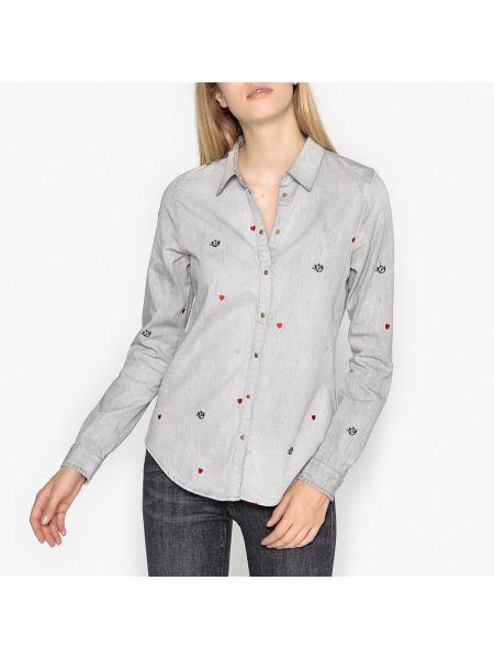 Рубашка с длинным рукавом с вышивкой на кнопках Maison Scotch