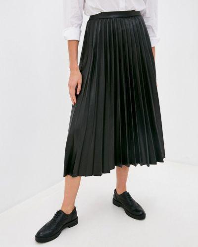 Плиссированная черная плиссированная юбка Mango