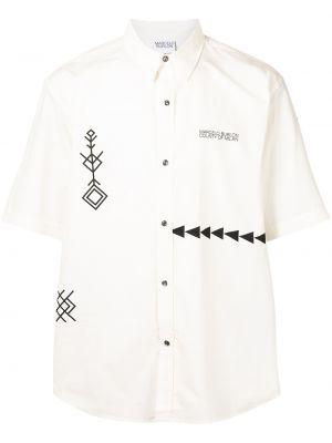 Biała koszula krótki rękaw - biała Marcelo Burlon County Of Milan
