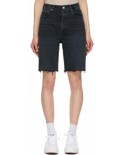 Szorty jeansowe - czarne Agolde