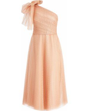Платье миди на одно плечо в горошек Redvalentino