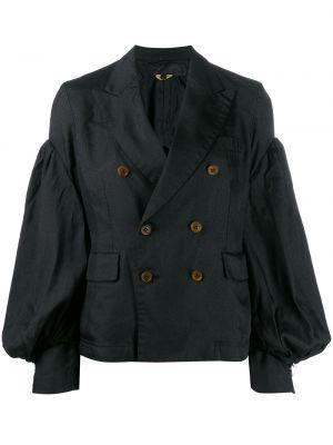 Приталенное черное длинное пальто Comme Des Garçons Comme Des Garçons