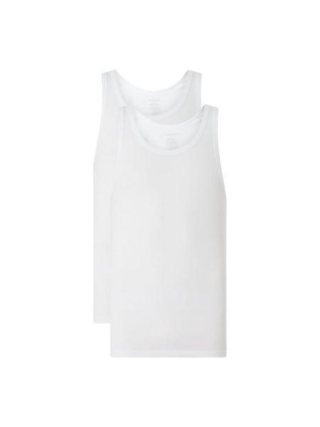 Biały top bawełniany Schiesser