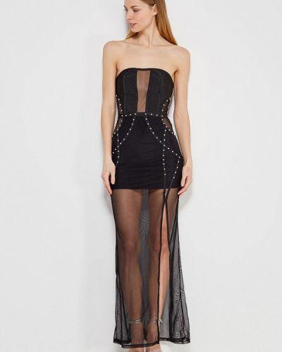 Платье миди черное Paccio