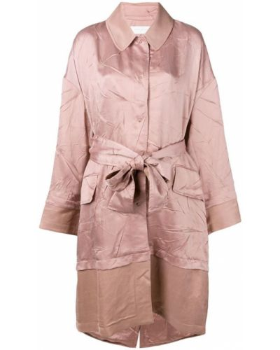 Розовое длинное пальто с капюшоном Esteban Cortazar