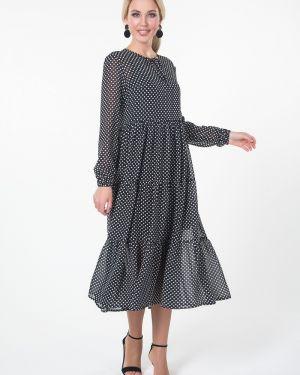 Платье в горошек на бретелях Valentina