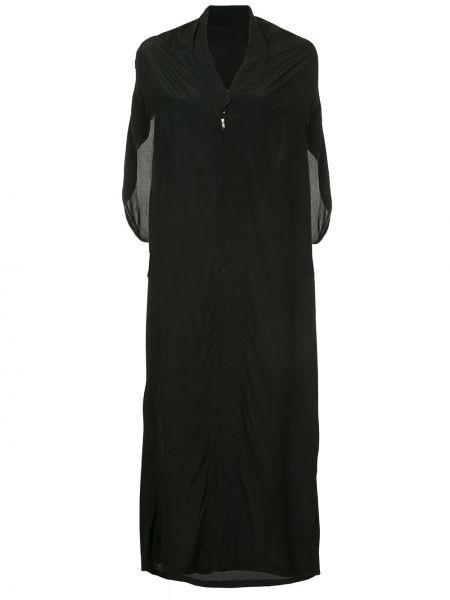 Шелковое черное платье без рукавов винтажное Yohji Yamamoto Pre-owned