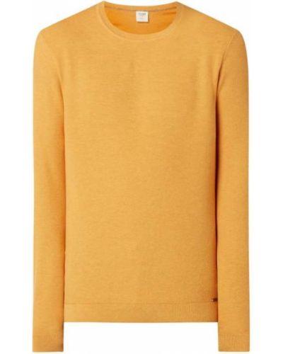 Prążkowany pomarańczowy sweter bawełniany Olymp Level Five
