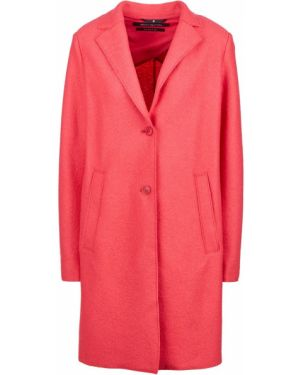 Шерстяное розовое пальто с капюшоном Marc O`polo
