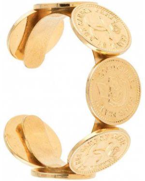 Открытый желтый медальон с открытой спиной без застежки Chanel Pre-owned