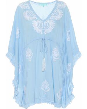 Синее платье с вышивкой для бассейна Melissa Odabash
